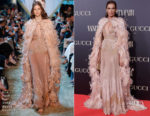 Nieves Alvarez In Elie Saab Haute Couture - Vanity Fair Personality Of The Year Gala