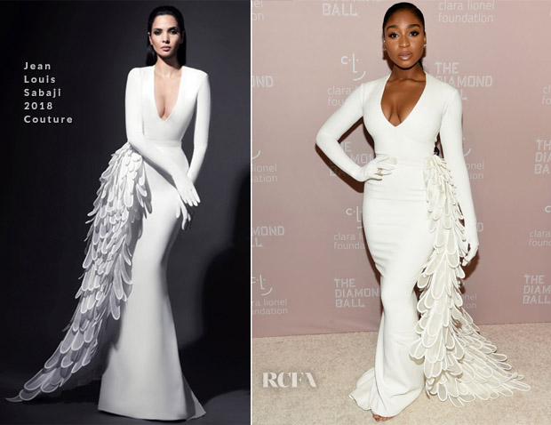 Normani Kordei In Jean Louis Sabaji Couture - 4th Annual Diamond Ball