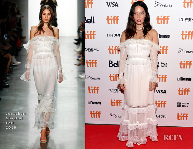 Olivia Munn In Jonathan Simkhai - 'The Predator' Toronto International Film Festival Premiere