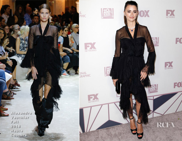 Penelope Cruz In Alexandre Vauthier Haute Couture - 2018 Emmys After Party