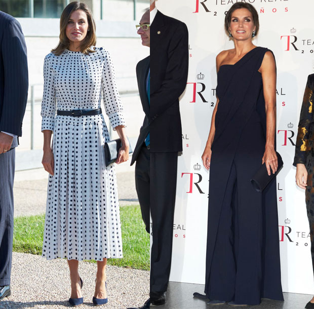 Queen Letizia of Spain In Pedro del Hierro - 'Vega-3' & 'Fausto'