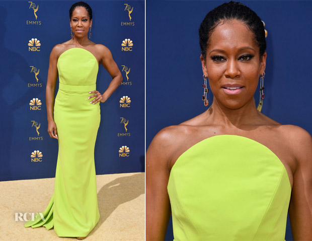 Regina King In Christian Siriano - 2018 Emmy Awards
