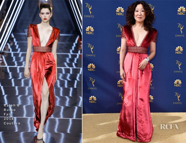 Sandra Oh In Ralph & Russo Couture - 2018 Emmy Awards