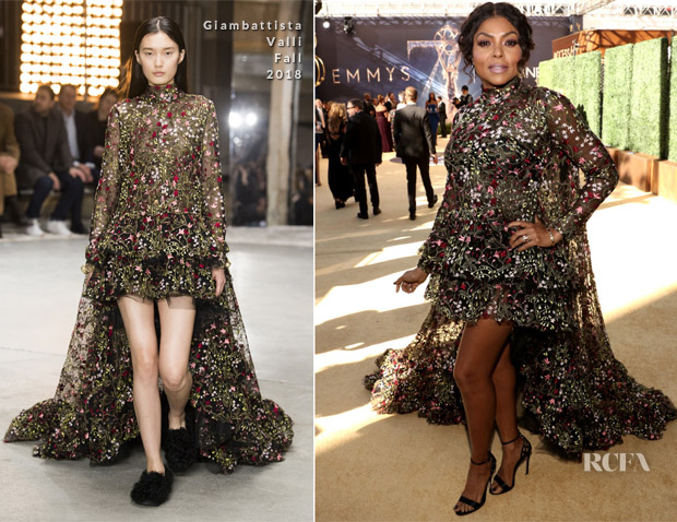 Taraji P. Henson In Giambattista Valli - 2018 Emmy Awards