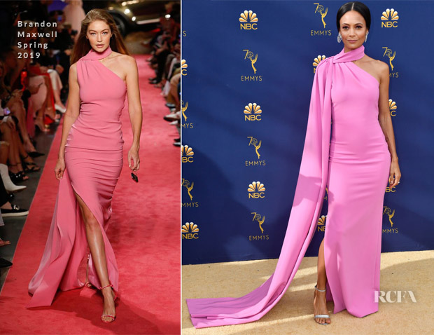 Thandie Newton In Brandon Maxwell - 2018 Emmy Awards