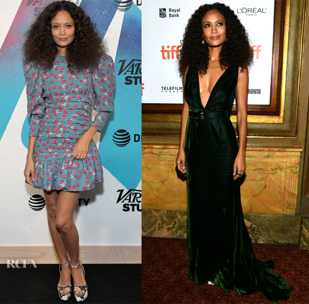 Thandie Newton In Magda Butrym & Oscar de la Renta - 2018 Toronto International Film Festival