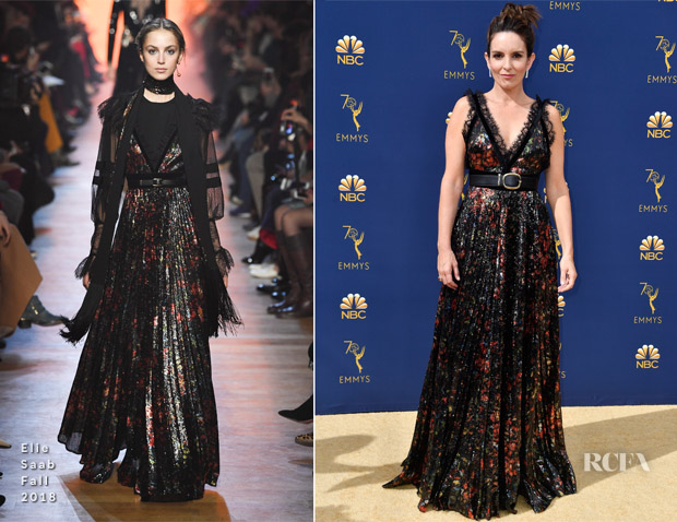 Tina Fey In Elie Saab - 2018 Emmy Awards