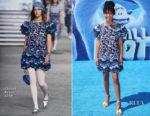 Yara Shahidi In Chanel - 'Smallfoot' LA Premiere