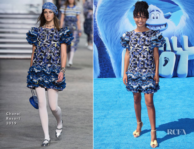 Yara Shahidi In Chanel - 'Smallfoot' LA Premiere