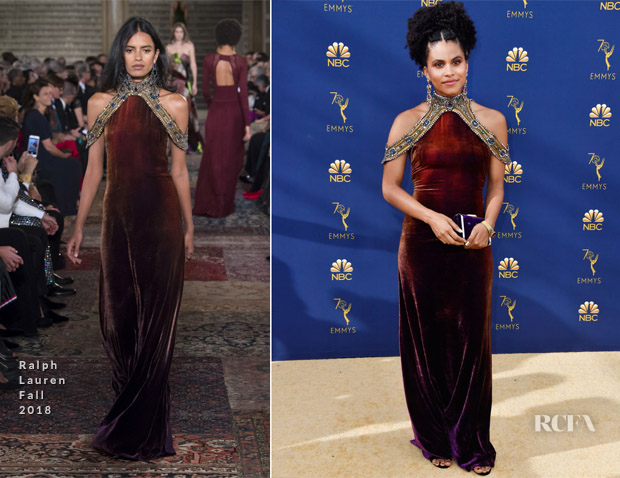 Zazie Beetz In Ralph Lauren - 2018 Emmy Awards