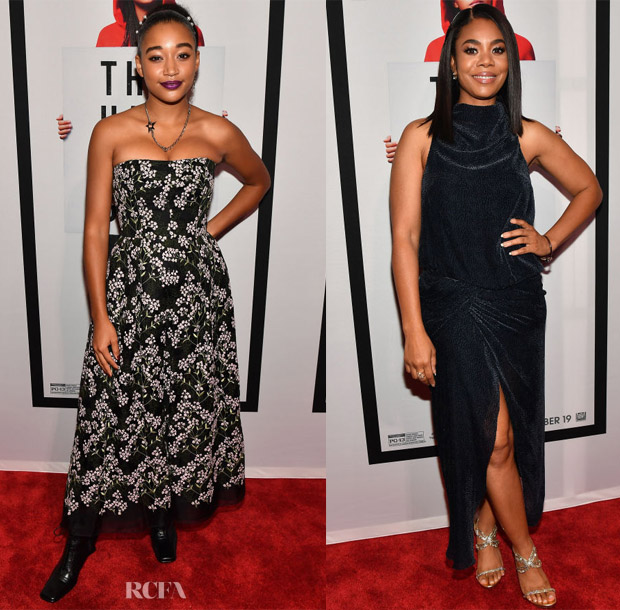 Amandla Stenberg In Erdem & Regina Hall In Camilla & Marc - 'The Hate U Give' Atlanta Screening