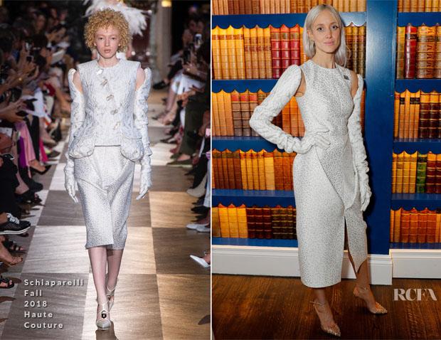 Andrea Riseborough In Schiaparelli Haute Couture - 'Nancy' London Film Festival Premiere