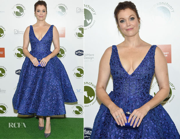 Bellamy Young In Michael Cinco  - 2018 Farm Sanctuary On The Hudson Gala