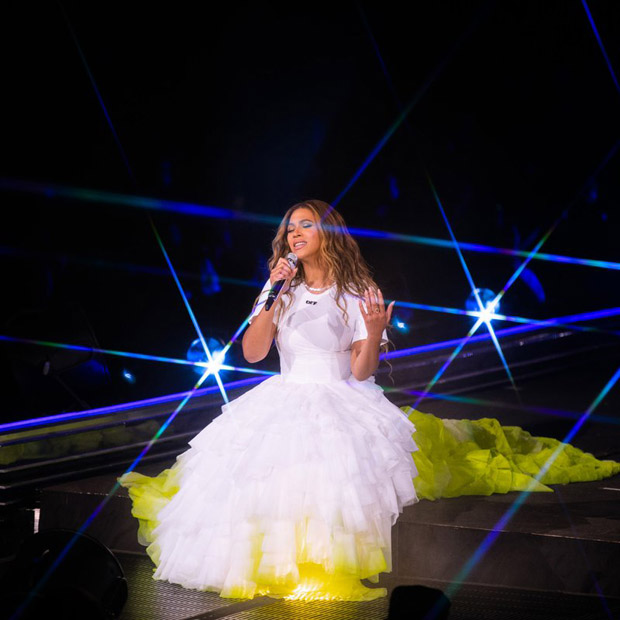 Beyonce Knowles Closes Her 'On The Run II' Tour In Off-White
