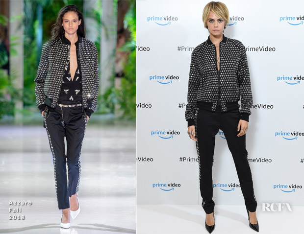 Cara Delevingne In Azzaro Couture & Alexander Wang - Amazon Prime Video Europe Autumn Party