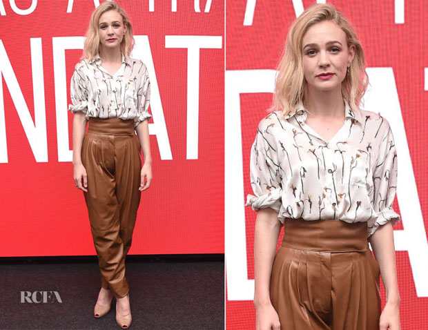 Carey Mulligan In Burberry - SAG-AFTRA Foundation Conversations: 'Wildlife'
