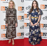 Carey Mulligan In Valentino & Zoe Kazan In Erdem - 'Wildlife' New York Film Festival Premiere