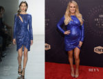 Carrie Underwood In Tadashi Shoji - 2018 CMT Artists Of The Year