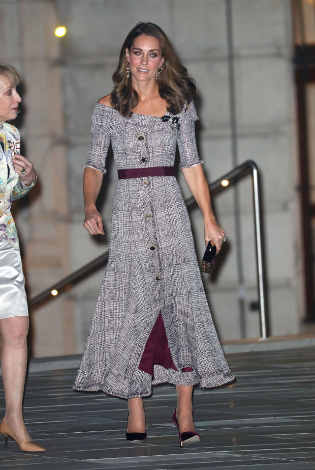 Catherine, Duchess Of Cambridge Opens The V&A Photography In Erdem