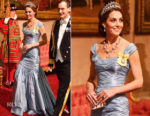 Catherine, Duchess of Cambridge In Alexander McQueen - State Visit Of The King And Queen Of The Netherlands
