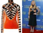 Chloe Grace Moretz's Proenza Schouler Tie-Dyed Velvet Turtleneck Top