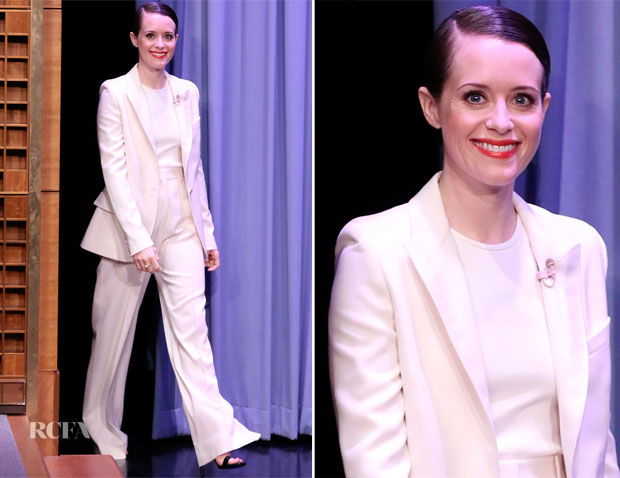 Claire Foy In Stella McCartney - The Tonight Show Starring Jimmy Fallon