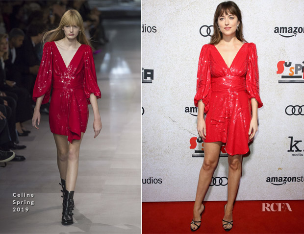 Dakota Johnson In Celine - 'Suspiria' LA Premiere