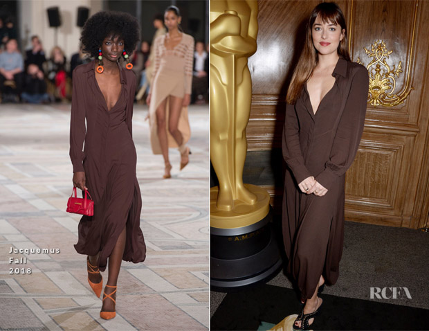 Dakota Johnson In Jacquemus - The Academy Of Motion Pictures Arts and Sciences Women's Initiative Lunch