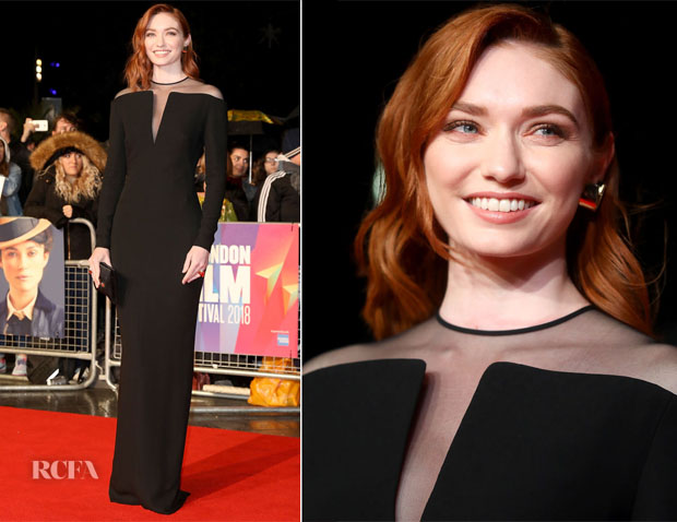 Eleanor Tomlinson In Tom Ford - 'Colette' London Film Festival Premiere