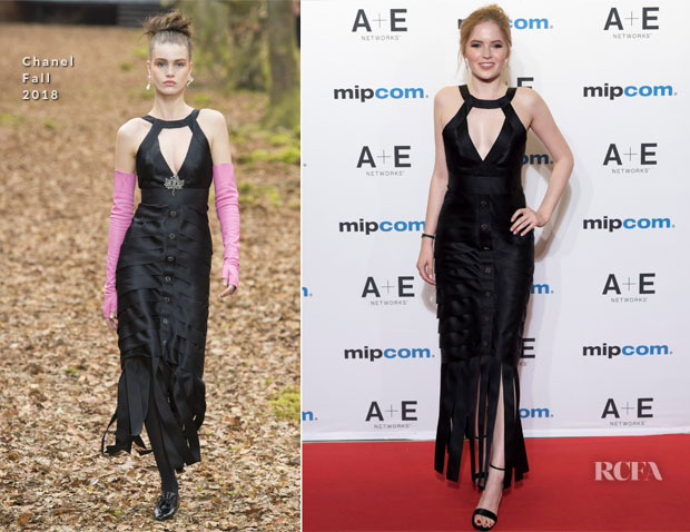Ellie Bamber In Chanel - MIPCOM 2018 Opening Ceremony