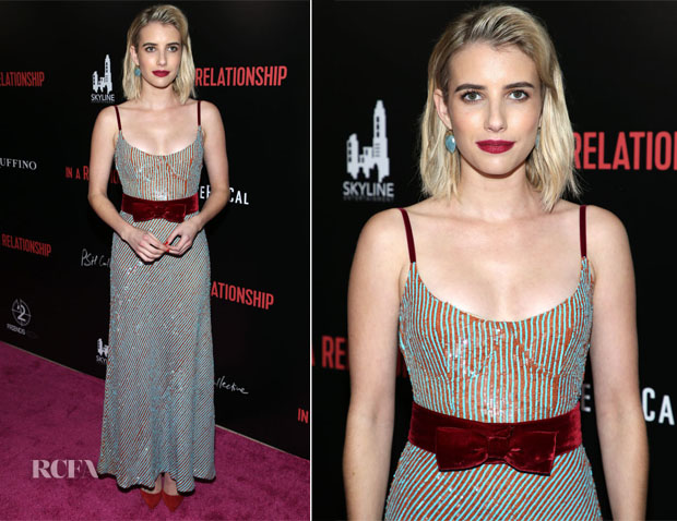 Emma Roberts In Markarian -  'In A Relationship' LA Premiere