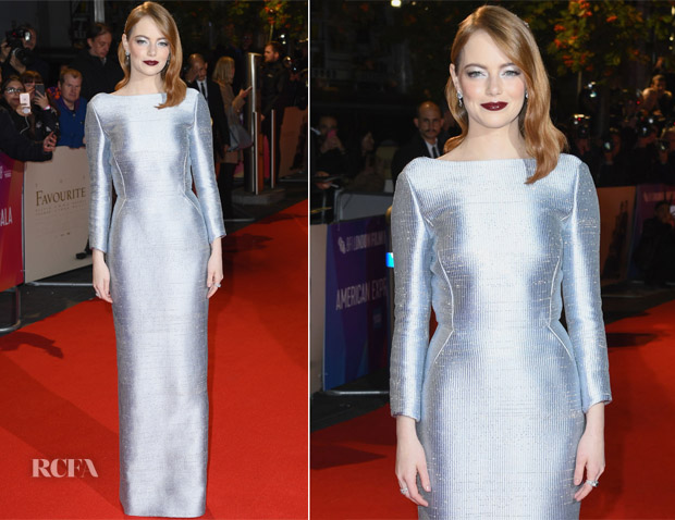 Emma Stone In Louis Vuitton - 'The Favourite' London Premiere