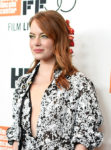 Emma Stone In Louis Vuitton - 'The Favourite' New York Film Festival Premiere