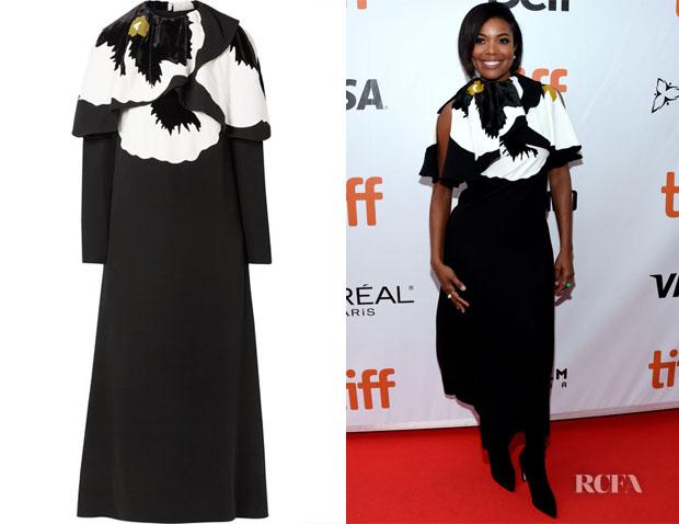 Gabrielle Union's Valentino Cape-Effect Midi Dress