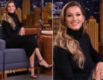 Gisele Bündchen In Haider Ackermann - The Tonight Show Starring Jimmy Fallon