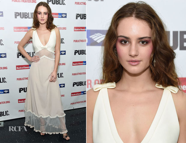 Grace Van Patten In Miu Miu - 'Mother Of The Maid' Opening Night Celebration