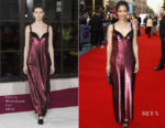 Gugu Mbatha-Raw In Emilia Wickstead - 'A Private War' London Film Festival Premiere