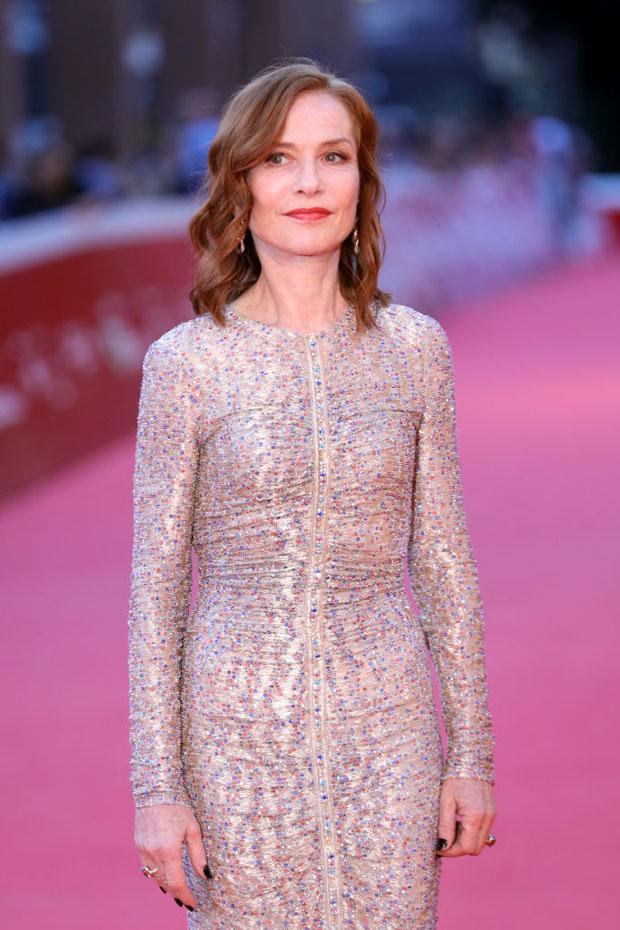 Isabelle Huppert In Armani Prive - 2018 Rome Film Festival
