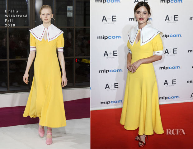 Jenna Coleman In Emilia Wickstead - MIPCOM 2018 Opening Ceremony