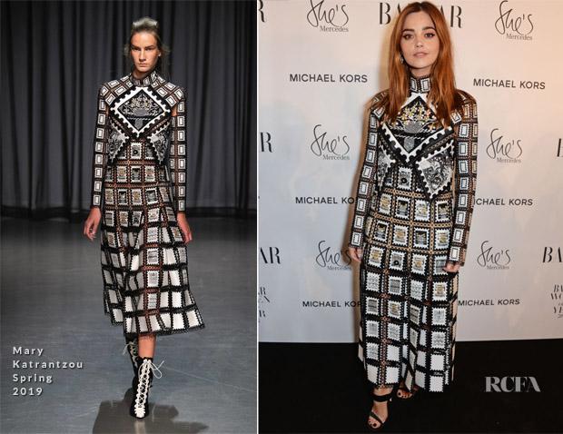 Jenna Coleman In Mary Katrantzou - 2018 Harper's Bazaar Women of the Year Awards