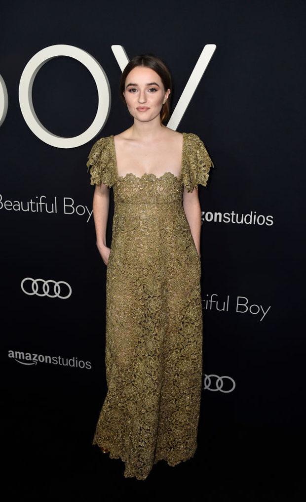 Kaitlyn Dever In Valentino - 'Beautiful Boy' LA Premiere