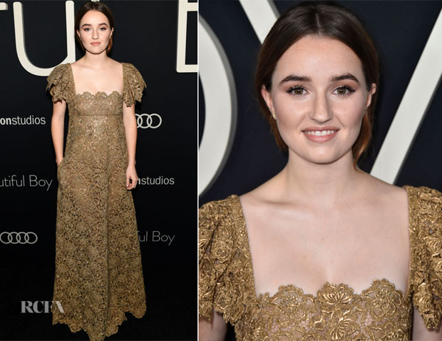 Kaitlyn Dever In Valentino - 'Beautiful Boy' LA Premiere