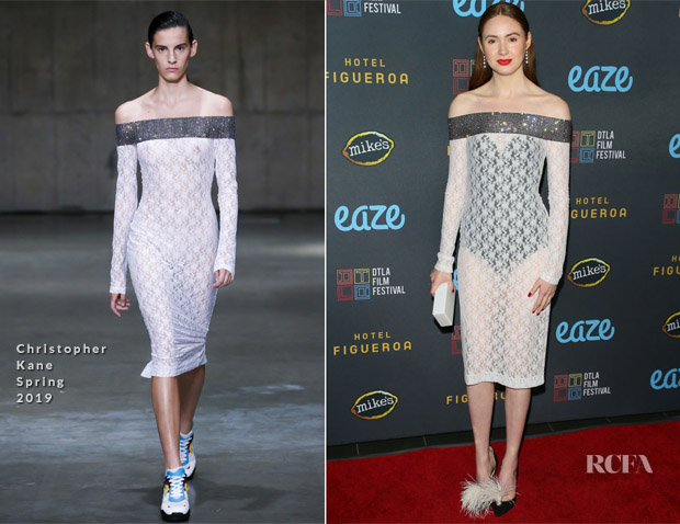 Karen Gillan In Christopher Kane - 'All Creatures Here Below' Downtown Los Angeles Film Festival Press Line