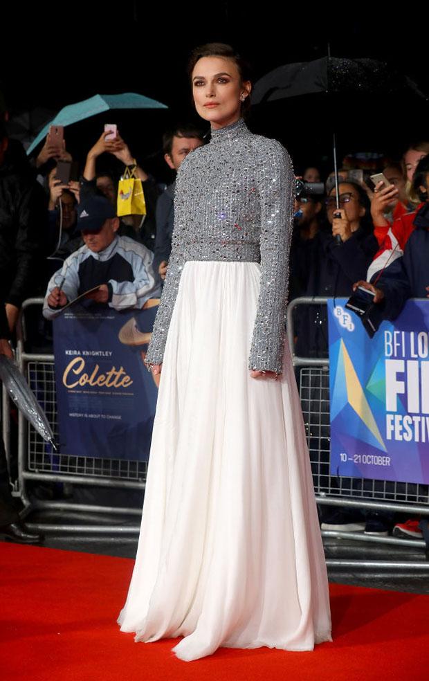 Keira Knightley In Chanel Haute Couture - 'Colette' London Film Festival Premiere