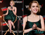 Kiernan Shipka In Prada - New York Comic Con 2018