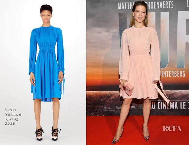 Lea Seydoux In Louis Vuitton - 'Kursk' Paris Premiere