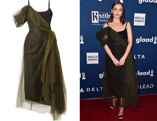 Madeline Brewer's Carolina Herrera Draped Dress
