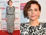 Maggie Gyllenhaal In Carolina Herrera - Hamptons International Film Festival 2018