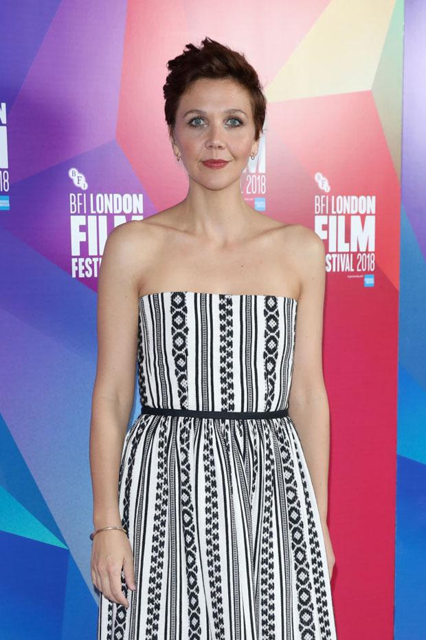 Maggie Gyllenhaal In Christian Dior - 'The Kindergarten Teacher' London Film Festival Premiere