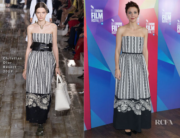 Maggie Gyllenhaal In Christian Dior - 'The Kindergarten Teacher' London Film Festival Premiere